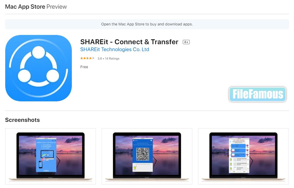 shareit macos applestore screenshot