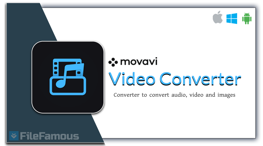 Movavi Video Converter Logo Banner Cover BOX Png SVG