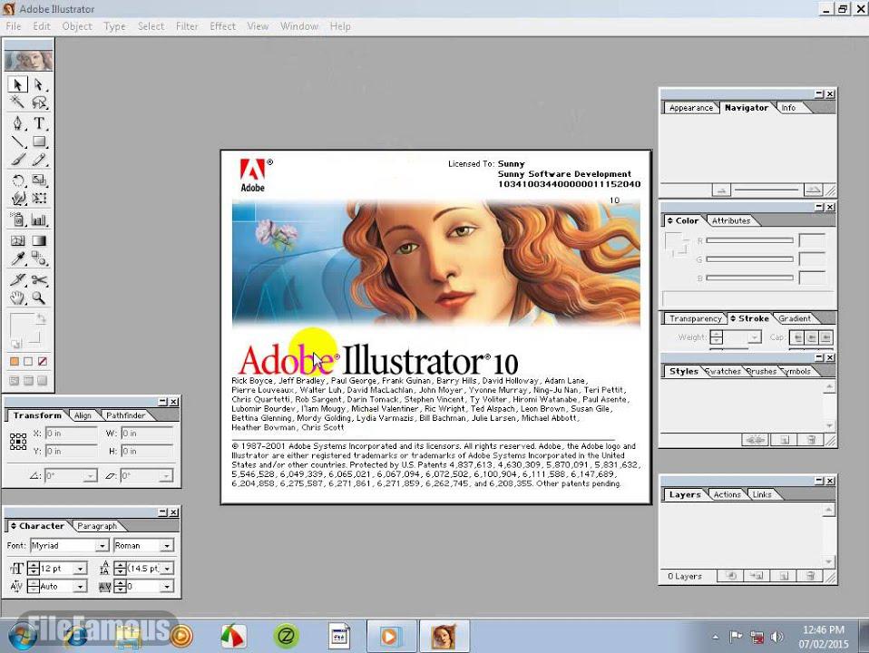 Adobe Illustrtor 10 Screenshot