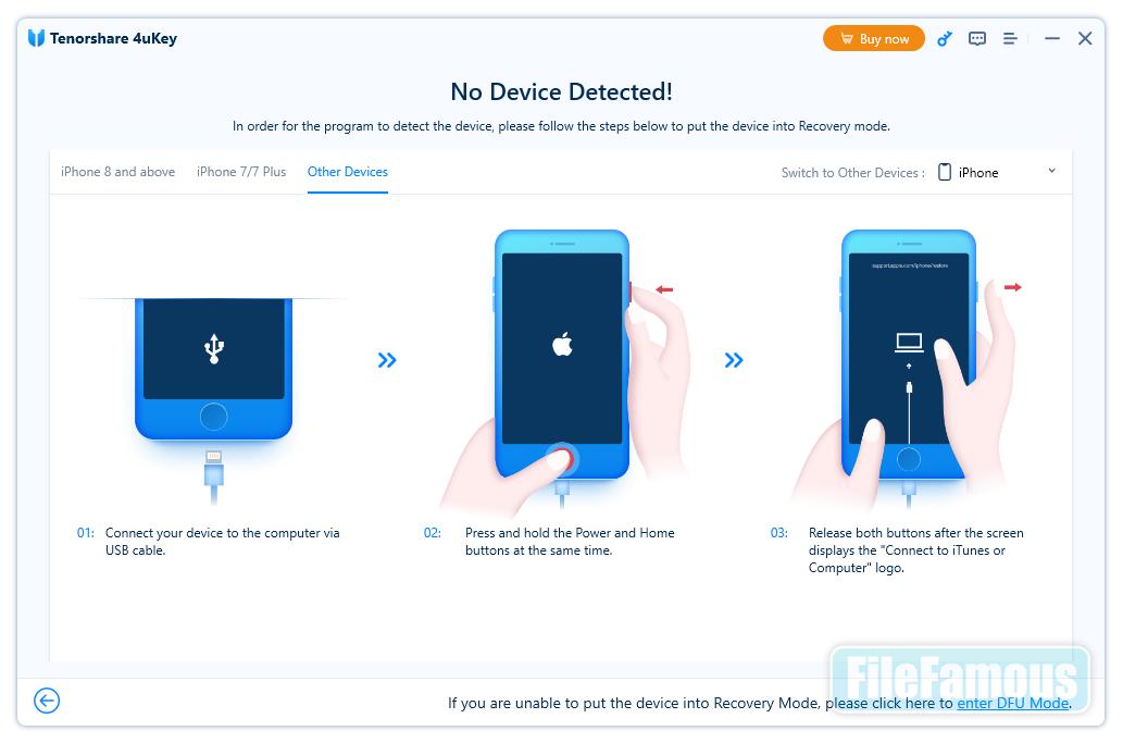 4uKey iPhone Unlocker Screenshot
