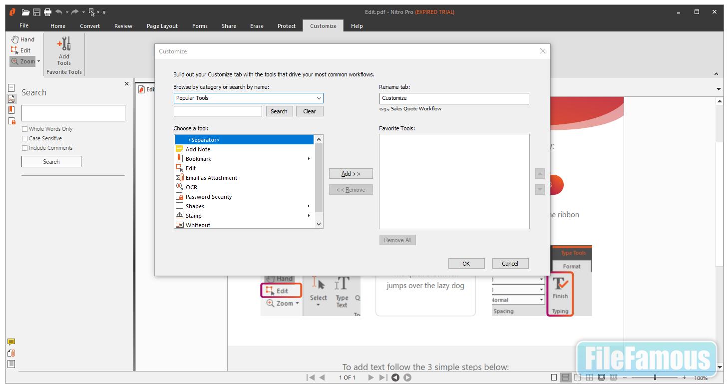 nitro pro screenshot