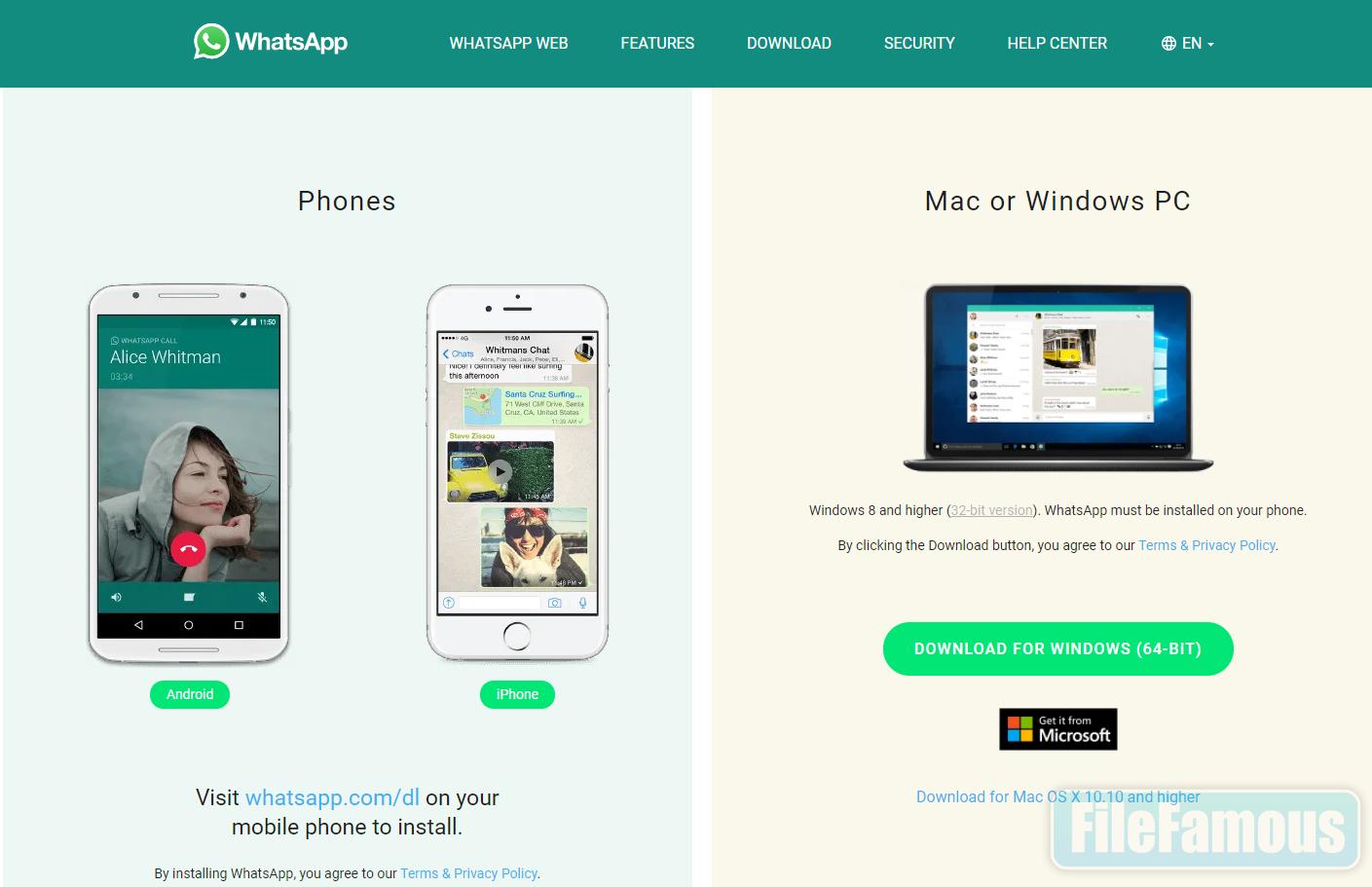 whatsapp desktop pc screenshot